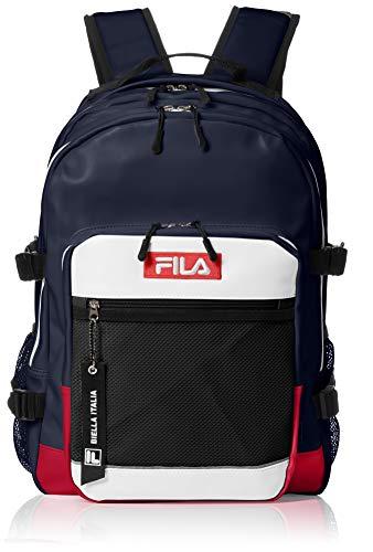 [フィラ] リュック メンズ レディース 大容量 リュックサック フェイクレザー PUレザー 19l a4サイズ 通学 通勤 旅行バッグ ブランド 軽量 ロゴ FM2115 トリコロール F