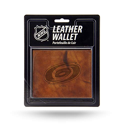 Rico Industries NHL Carolina Hurricanes Embossed Leather Billfold Wallet with Man Made Interior