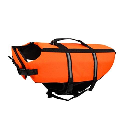 Reflektierende Hund Schwimmweste Rettungsweste für Klein Hund 0–3kg Größe XXS Orange