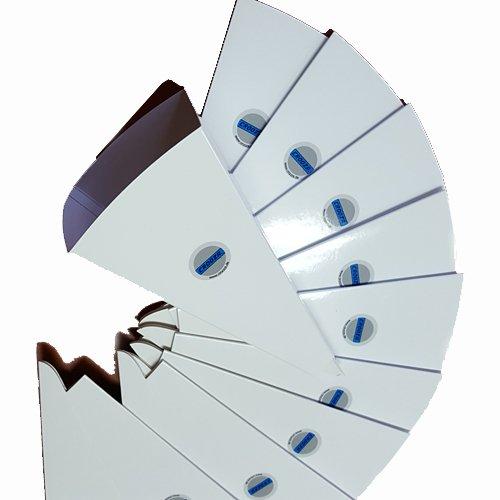 crooza 10x Qualitäts Einwegtrichter Papier Öl Trichter Papiertrichter saubere Ölwechsel Öltrichter