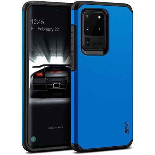 BEZ Hülle für Samsung S20 Ultra Hülle, Handyhülle Tasche Stoßfestes Kompatibel für Samsung Galaxy S20 Ultra 5G, [Heavy Duty Serie] Outdoor Dual Layer Armor Hülle Handy Schutzhülle Robuste, Blaue Marine