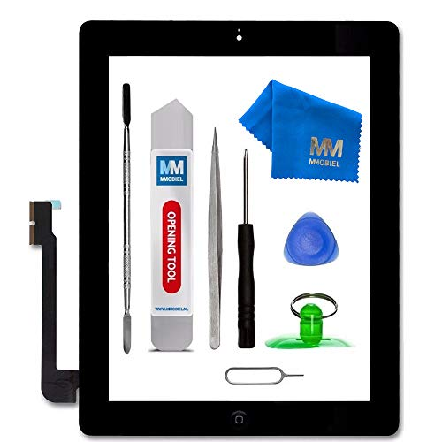 MMOBIEL Digitizer kompatibel mit iPad 3 (Schwarz) 9.7 Inch 2012 Touchscreen Front Display Ersatz inkl Werkzeug