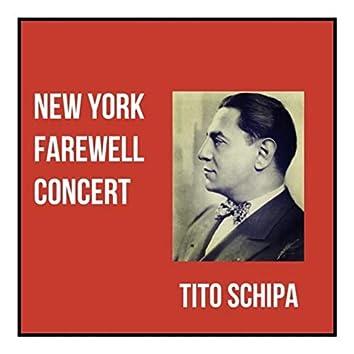 New york farewell concert