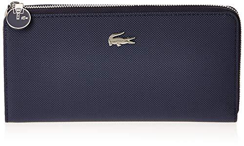 Lacoste Daily Classic - Portafogli Donna, Blu (Peacoat), 3x9.5x19 cm (W x H L)