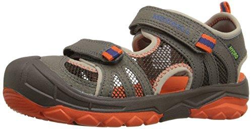 Merrell Merrell Boys Hydro Rapid Water Sandal (Toddler/Little Kid/Big Kid), Gunsmoke/Orange, 9 M US Toddler