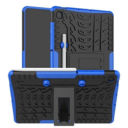 BZN para Samsung Galaxy S6 Lite Three Texture TPU + PC Funda a Prueba de Golpes, con Soporte y Bandeja de lápiz (Negro) (Rojo) (Azul), etc. (Color : Blue)