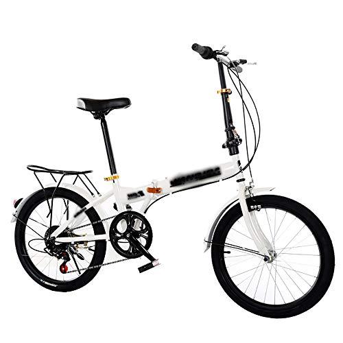 STRTG Faltbares Fahrrad, Unisex Klapprad + leicht und robust Klappfahrrad, 20 Zoll 6 Geschwindigkeit Verschiebung Freizeit Fahrrad Citybike Folding Bike Falt-Fahrrad