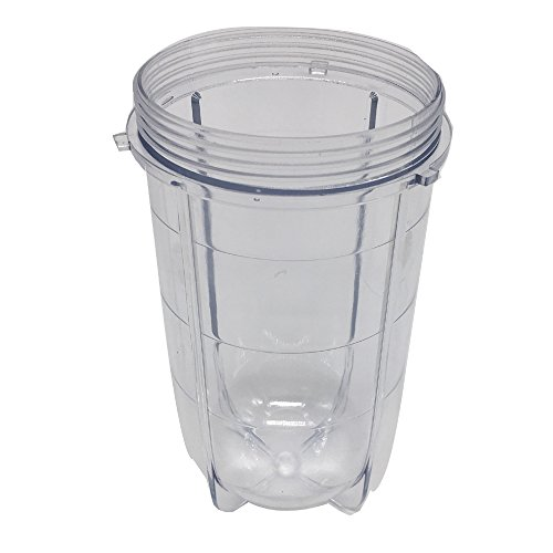 1 pcs 16oz Replacement Tall Jar Cup Fits Original Magic Bullet Blender Juicer,cups Compatiable with Model MB1001/MB 1001B/MBR-1701 /MBR-1702 /MBR-1101 /MB-BX1770-02/MBR-0301 (1, 16oz Tall cup)