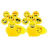B.N.D TOP Assorted Party Favors Sticky Splat Pig Pink Emoji Ball (Yellow, 24)