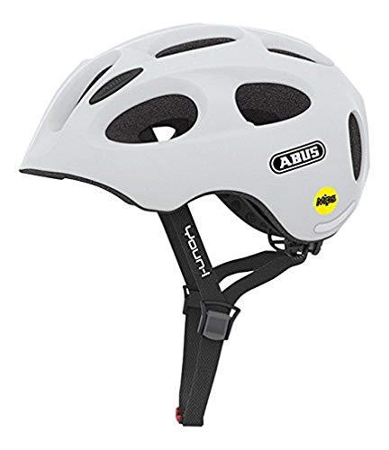 ABUS Youn-I MIPS Kinderhelm - Fahrradhelm für Kinder - für Mädchen und Jungen - 38809 - Weiß Matt, Größe S