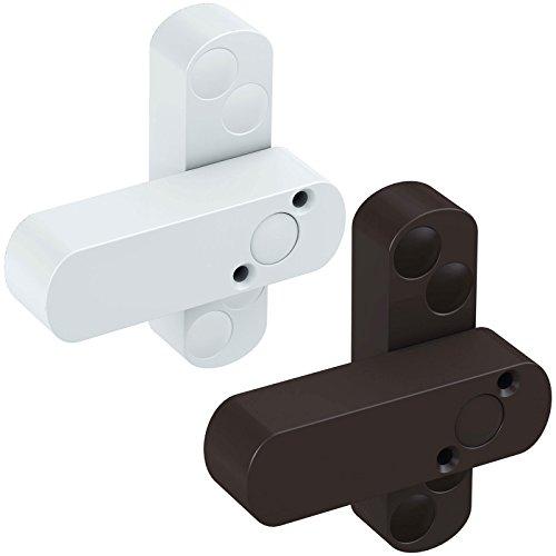 BASI® FS10 - Seguro para ventanas y puertas de ventanas (protección adicional contra robos), color blanco