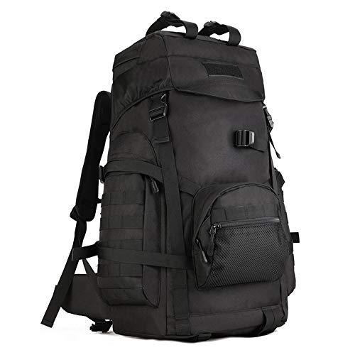 YUHAN Tactical Backpack, 60L Hiking Backpack Military Army Combat Rucksack MOLLE Trekking Rucksack Trekking Backpack Black