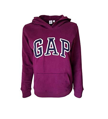 GAP - Sudadera con capucha para mujer, Púrpura brillante, M