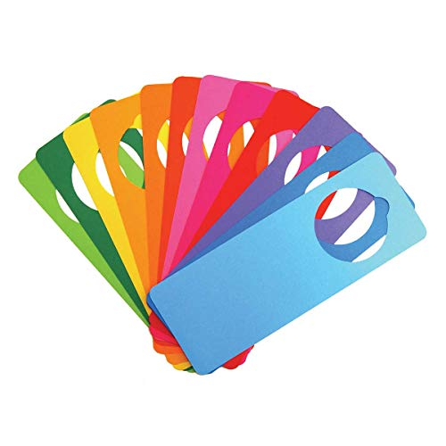 """Hygloss Products - 77748 Bright Tag Door Hangers - DIY Door Tag - Fun Activity - Great for Arts & Crafts - Bright Assorted Colors - Approx. 4"""" x 11"""" - 48 Pack"""