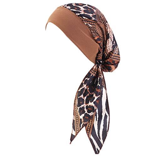 YONKINY Kopfbedeckung Chemo Damen Sommer Elegante Elastic Bandana Kopftuch Wrap Headscarf Beanie Hut Kopftuch Schal Turban für Haarverlust Krebs Chemotherapie (#11)