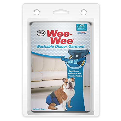 Four Paws Wee-Wee Washable Dog Diaper Garment Large