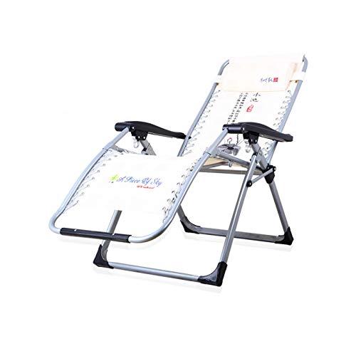 HAOLIN Klappbarer Zero Gravity Lounge Chair,Verstellbarer Liegegarten Außenterrasse Sonnenliegen Mit Einem Kopfkissen Von Bis Zu 150 Kg,Beige