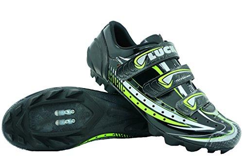LUCK Zapatilla de Ciclismo Master, con Suela de Carbono y Triple Tira de Velcro para una sujeción (48 EU)