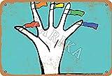 BIGYAK Bandera en los dedos aspecto vintage 20 x 30 cm, cartel de decoración de metal, cartel para hogar, cocina, baño, granja, jardín, garaje, citas inspiradoras decoración de pared