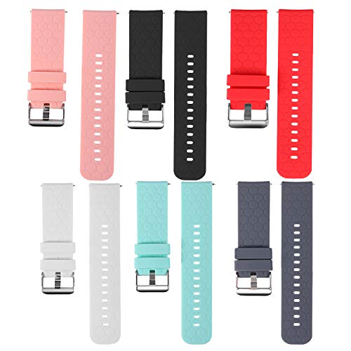 TenCloud 6-Pack Bands Compatible with ID216 Band Replacement Flexible Soft Silicone Strap Sport Wristband Accessory for ID216 Smart Watch