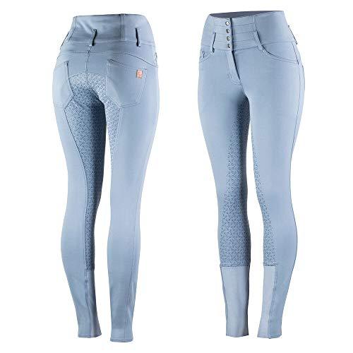 HORZE Pantaloni da Equitazione Tara da Donna, Vita Extra Alta, Tutte Le Taglie, Blue, 42