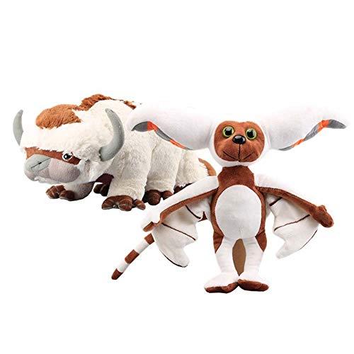 Levin_Art 2 Stück Avatar Der Herr der Elemente Appa&Momo Plüschtier Kuscheltiere Rinder- und Fledermauspuppe Kinderspielzeug