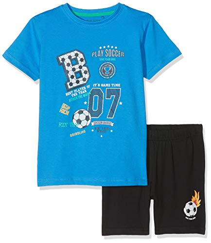 Blue Seven Jungen Set: T-Shirt + Shorts Bekleidungsset, Blau (Cyan 659), (Herstellergröße: 98)