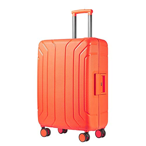 Ang-xj Drop-resistant candy color pp suitcase trolley case custom travel bag mute universal wheel password box,business fashion trend,waterproof,shockproof travel case