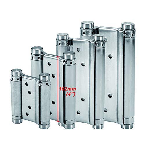 LOOTICH Scharnier (102mm) Edelstahl Pendeltürband Türscharnier Türband Automatisches Schließen Scharniere für Pendeltür und Schwingtür bis 16kg Aufschraubband (2 Stück)