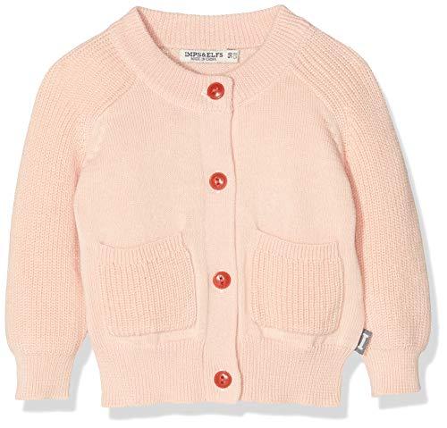 Imps & Elfs Baby-Mädchen G Cardigan Long Sleeve Strickjacke, Rosa (Evening Sand P332), (Herstellergröße: 62)