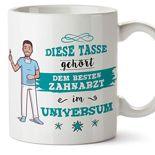 MUGFFINS Tasse/Becher Zahnarzt (Beste im Universum) - Lustige und Originelle Zahnmedizin Geschenke