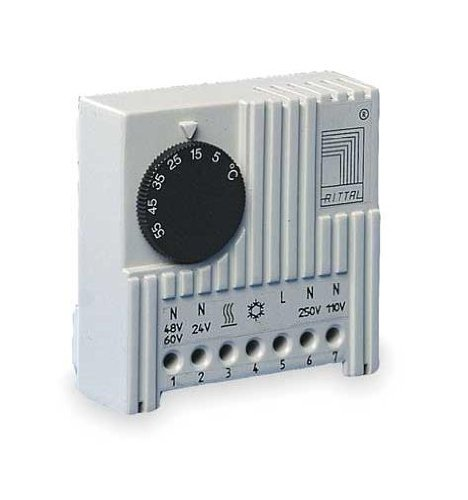 Rittal SK 3110.000 Thermostat - Thermostate (5-60 °C, 71 mm, 33,5 mm, 71 mm, 100 g, 24-230 V)