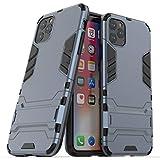 BAIYUNLONG Cas de Couverture, antichocs PC + TPU avec Support for iPhone 11 Pro Max (Noir) (Color :...