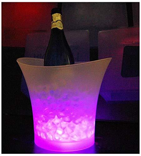 FMLSDMBT Beleuchteter Party-Eiskübel,Weinkühler,Sektkühler,Getränkewanne,Vorratsbehälter, Getränkekühler, Party-Getränkekühler Für Champagner Wein Und Bier (Color : Red)