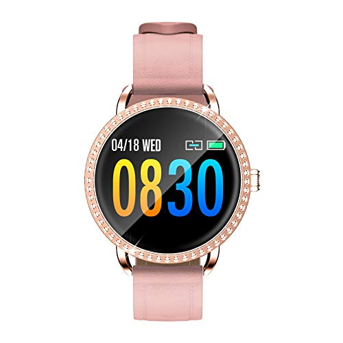 Relojes inteligentes para mujeres, reloj inteligente para teléfonos Android e iOS, pantalla táctil completa de 1.0 ', podómetro a prueba de agua IP67, reloj con monitor de sueño, regalos navideños