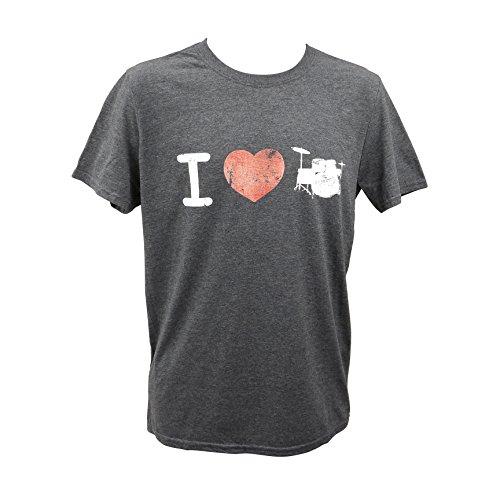 Acme Store T-Shirt I Love Drums – Vintage Gris - Gris -