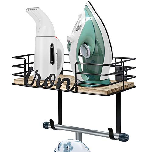 TJ.MOREE Ironing Board Hanger - Laundry Room Iron and Ironing Board Holder,...