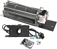Hongso FK24 Fireplace Blower Fan Kit for Majestic, Vermont Castings, Martin, Northern Flame, Monessen, Temco, CFM, Rotom HB-RB65, Quiet, Energy Saving