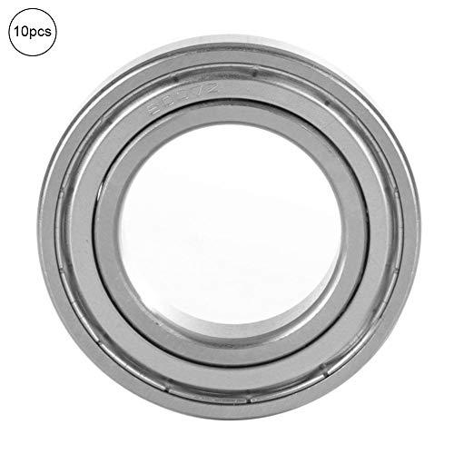 Hyuduo 10 Stücke Präzision Rillendoppelgeschirmtes Lager Eingefettet Stahlkugel Miniatur Einzelsäule Lager (6003-ZZ)