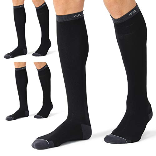 Pure Athlete Compression Ankle Socks for Running Men and Women Moisture Wicking 3 Pairs - White//Red, Medium Dot Padding
