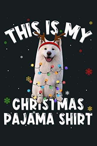 This Is My Christmas American Eskimo Reindeer Pajama Funny: Notebook Planner -6x9 inch Daily Planner Journal, To Do List Notebook, Daily Organizer, 114 Pages