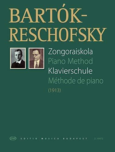 Piano Method - Klavierschule von Béla Bartók - Sprache : Deutsch, Englisch, Französisch - Buch mit mit bunter herzförmiger Notenklammer