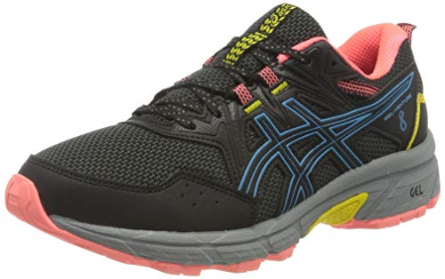 ASICS Damen Gel-Venture 8 Trail Running Shoe, Black/Digital Aqua, 39.5 EU