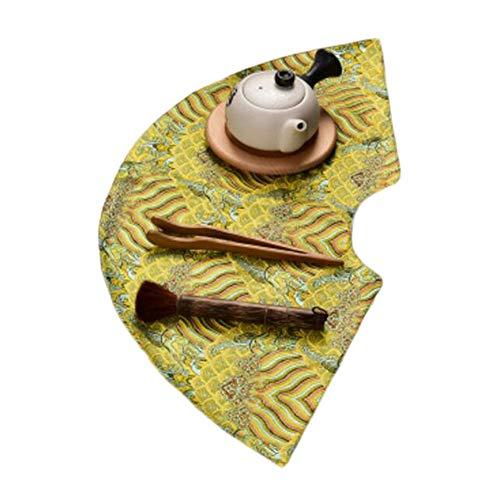 Wukong Paradise Nappe à thé Tapis à thé Broderie sous-Verres à thé Chemin de Table Accessoires pour thé-A01