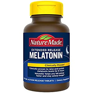 NATURALLY FALL ASLEEP FASTER & STAY ASLEEP LONGER: Specially formulated with 4mg melatonin in two different layers to naturally help you fall asleep faster and stay asleep longer. 90-DAY SUPPLY: Contains a 90-day supply of Nature Made's Extended Rele...