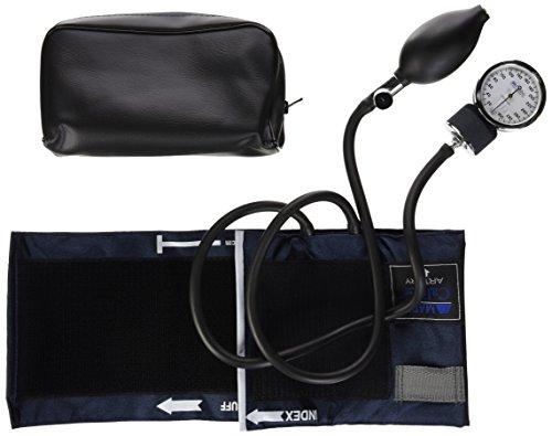 MABIS DMI Healthcare Aneroid Sphygmomanometer Manual Blood Pressure Cuff Monitor, Cuff Size 11 to 16.4 Inches Adult, Blue