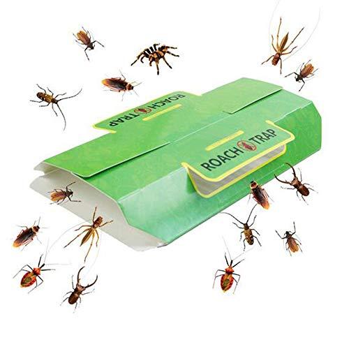 Greenty 12 Stück Schabenfalle/Insektenfalle Lockstoff Kakerlakenfalle Schabenfalle giftfrei Klebefalle