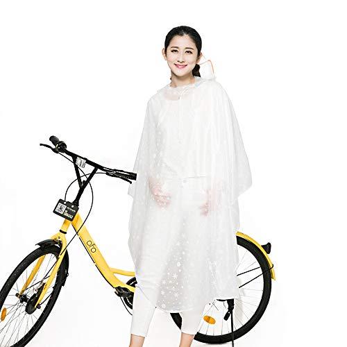 AINUO Bicicleta Impermeable Eléctrico Motocicleta Batería Coche Poncho Montar Solo Impermeable Transparente...