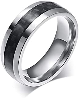 Ring For Men By Bluna, Silver And Black, Size 9, R023