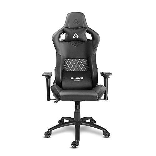 Alpha Gamer Osiris - Black/White (Gaming Chair, Silla de Juego, Gaming...